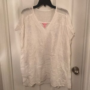White lilly pulitzer coverup size S/M